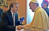 Patricio García en el vaticano junto al Papa Francisco en el 1er Congreso sobre dialogo interreligioso