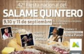 "Comienza en Mercedes la tradicional ""Fiesta Nacional del Salame Quintero"""