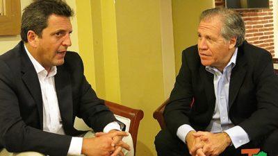 Massa apoyó el Acuerdo de Paz en Colombia y pidió una mejor democracia para Venezuela
