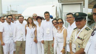 Massa participó de un hecho histórico en Latinoamérica, el acuerdo de Paz entre Santos y las FARC en Colombia
