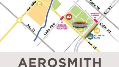 La Plata / Montan un operativo especial para el recital de Aerosmith