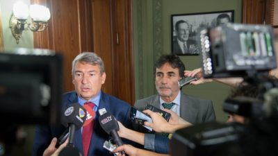 """D´Onofrio y Eslaiman criticaron con dureza """"la ausencia"""" de funcionarios de seguridad en la legislatura"""