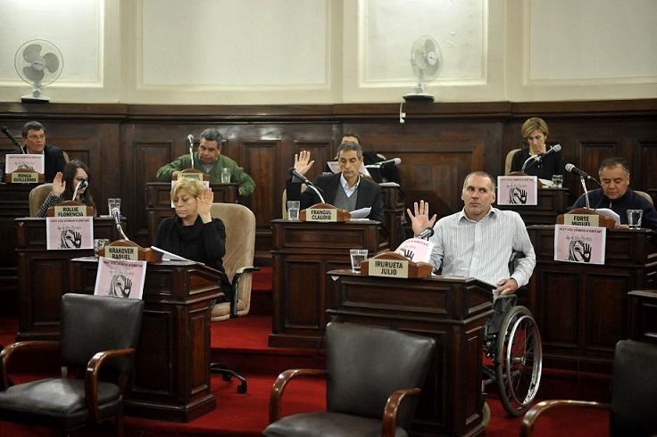 La Plata / El concejo deliberante a favor del #NiUnaMenos