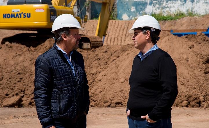 V. López / Macri recorrió obras hidráulicas junto al senador Costa