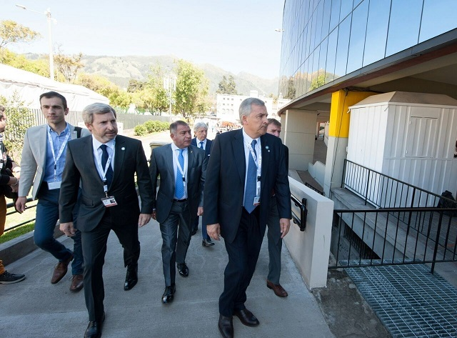 Petrecca con Frigerio, Michetti y Larreta en Ecuador en la cumbre de Habitat III