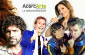 """""""AcercArte"""" llega a Berisso con Iván Noble y Patricia Sosa y Rodrigo de la Serna"""