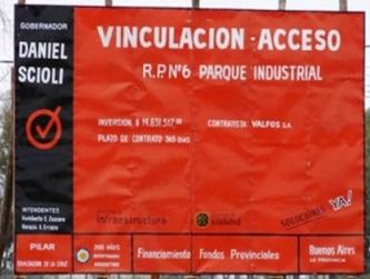 Proponen que  no se pueda incluir en carteles de Obras Públicas el nombre de la gobernadora como lo hacía Scioli