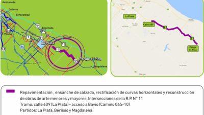 Berisso / Se licitó la repavimentación de la Ruta 11
