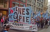 Jóvenes de organizaciones sociales acampan por los 100 mil recortes del PROGRESAR