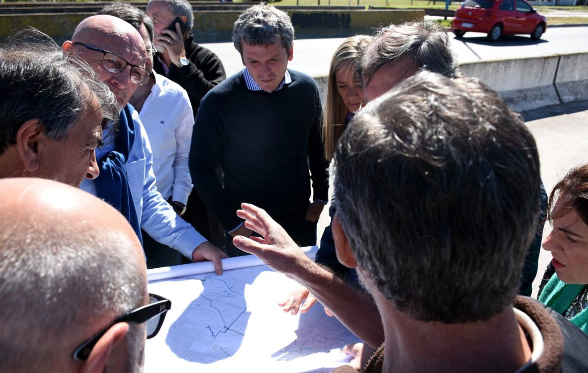 La Plata / Monzó junto a la comisión de seguimiento y fiscalización de obras recorrió el Aº Maldondando