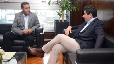 Puan / Castelli gestionó ante el titular de PAMI la deuda que tiene el organismo nacional con el municipio