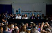 F. Varela / Pereyra junto a CFK lanzaron la carrera de economía de la UNAJ