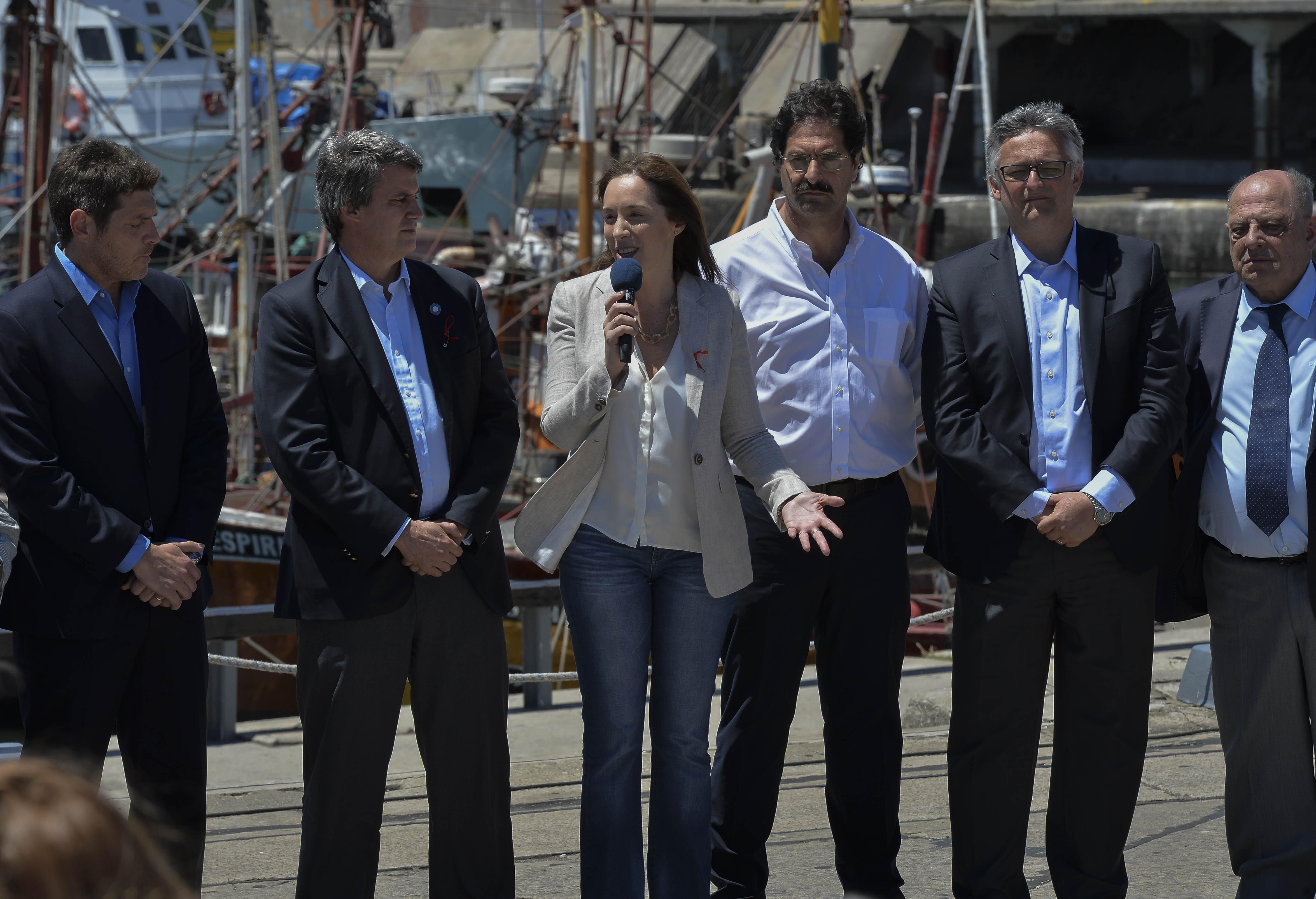 Mar del Plata/ María Eugenia Vidal, anunció medidas para reactivar el sector pesquero