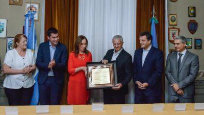 Vidal, Stolbizer y Massa, se juntaron para reconocer a Jorge Sarghini