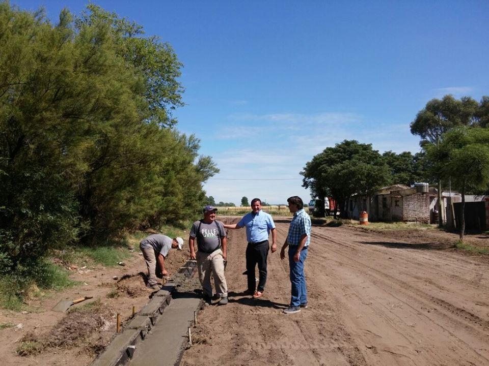 Pellegrini / Pacheco y un funcionario de Secretaría general de Gobierno recorrieron obras