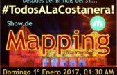 Miramar recibe el 2017 con un show de Mapping en la playa