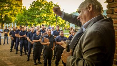 P. Perón/ Regueiro destacó el trabajo diario de los policías peronenses