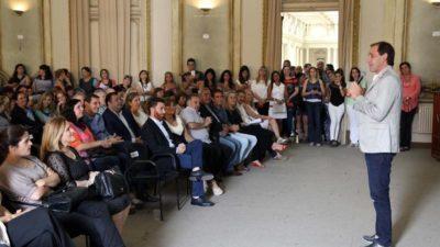 La Plata / Fuertísima jugada de Garro en favor de la Educación, ante 400 docentes anunció inversión de 60 millones para obras en escuelas