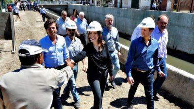 Vidal recorrió obras con Insaurralde que se cansó de tirarle flores a la Gobernadora