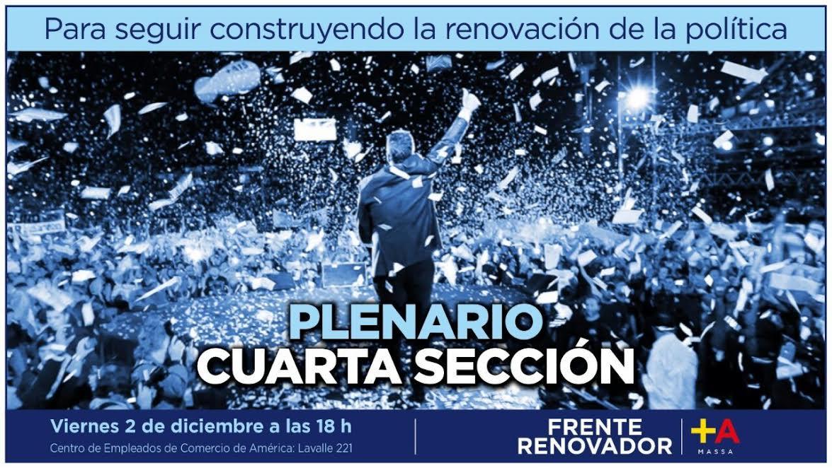 El Frente Renovador de la cuarta sección se reúne en Rivadavia
