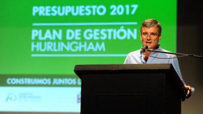 Hurlingham / Zabaleta presentó públicamente el presupuesto 2017 con un plan de gestión