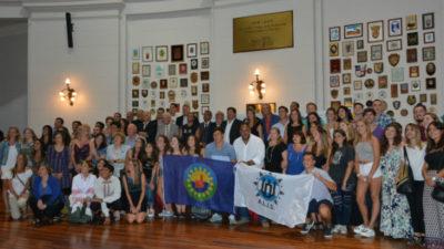 Berisso / Nedela encabezó el acto de lanzamiento del XX Encuentro Sudamericano de la Juventud Lituana en el Senado