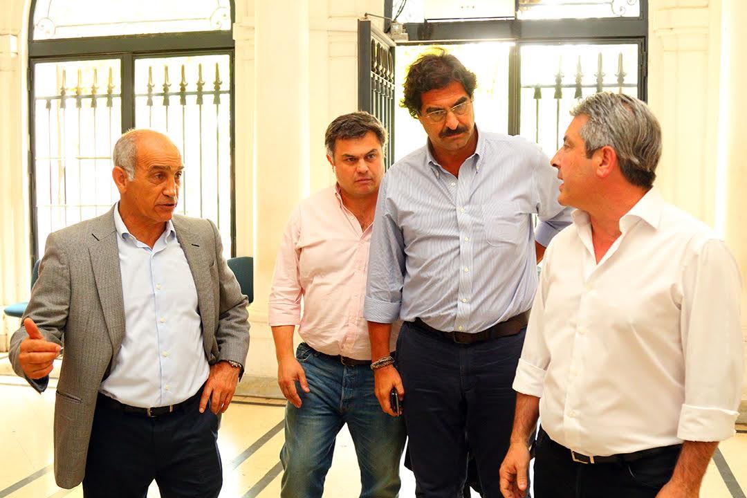 Salvador, López Medrano y Sarquis confirmaron en Pergamino el inicio de la presa reguladora del arroyo