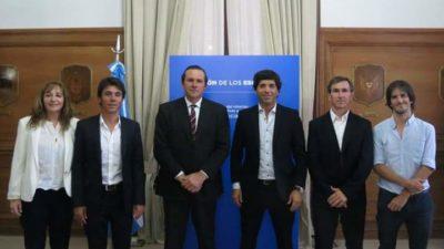 Lezama / Harispe anunció las 20 cuadras de asfalto que firmó con García De Luca en diciembre