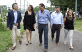Macri y Vidal recorrieron San Martín junto al jefe comunal del FPV, Katopodis