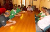 López recibió Excursionistas, equipo de fútbol que milita en la Primera B Metro