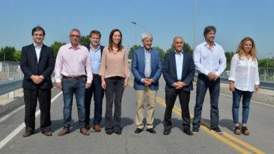 Con la presencia de Segundo Cernadas, Vidal inauguró un puente en Tigre