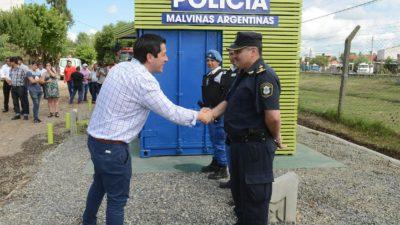 Malvinas Argentinas / Nardini puso en funcionamiento el 5to puesto de seguridad