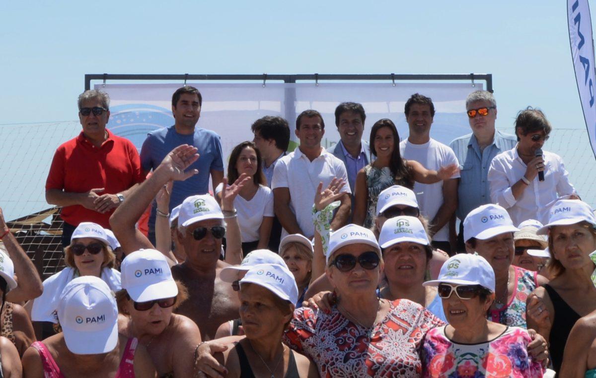 El IPS y PAMI inauguraron una playa para los adultos mayores en Mar del Plata
