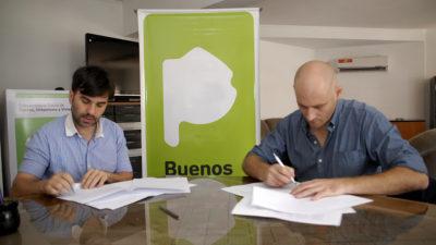 Alberti / Echarren y Lago firmaron un convenio de hábitat para generar suelo urbano