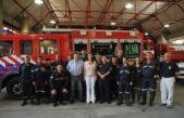 """Vidal visitó Gesell y Pinamar destancando el """"trabajo heroico"""" de los bomberos tras los incendios"""