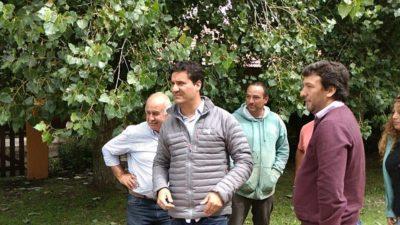 Mar Chiquita / Ronda recibió al diputado Abad y juntos recorrieron las zonas afectadas por el temporal