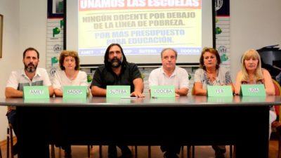Los gremios docentes van unidos a una nueva reunión paritaria poco esperanzadora