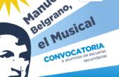 La Plata / Comienza convocatoria a alumnos de secundarias locales para conformar un musical sobre la vida de Belgrano