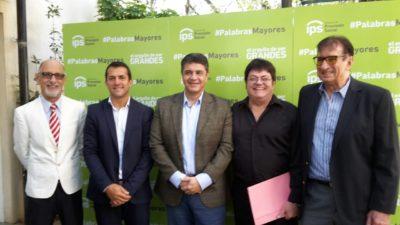 V. López / Gribaudo junto a Rattín, Marzán y Arriaga lanzaron el programa #PalabrasMayores