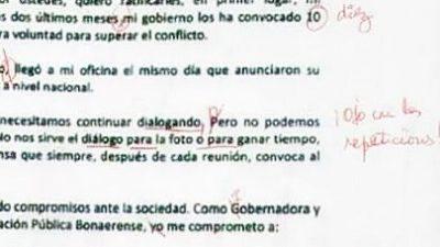"""""""Ojo con las repeticiones"""": la desopilante corrección de los docentes a la carta de Vidal"""