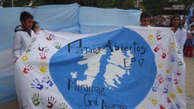 #Malvinas35años / Miramar recordó a los veteranos y caídos en la guerra de Malvinas