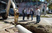 Tigre / Julio Zamora supervisó el avance de obras hidráulicas en el centro de la ciudad