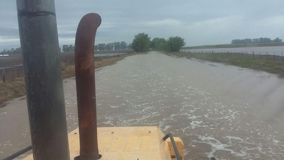 Pellegrini / la Municipalidad busca solucionar los problemas por el exceso de agua