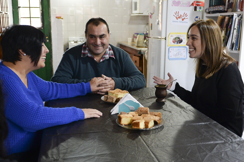 Vidal visitó a vecinos platenses para conocer sus necesidades y expectativas