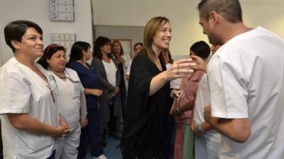 Lomas de Zamora / Vidal sin Insaurralde, recorrió la ampliación del Hospital Gandulfo