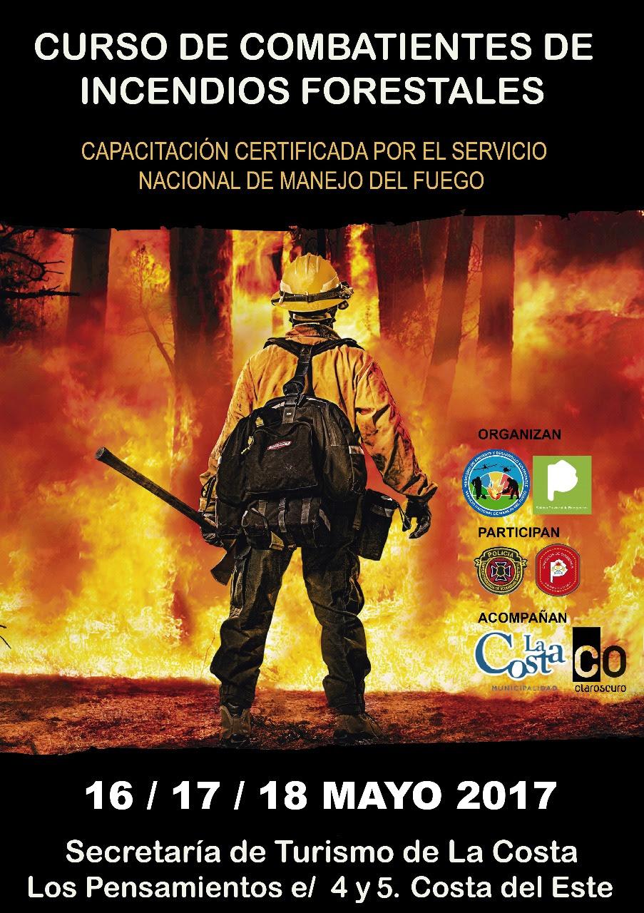 """Bomberos harán un curso de """"Combatientes sobre Incendios Forestales"""" en Costa del Este"""
