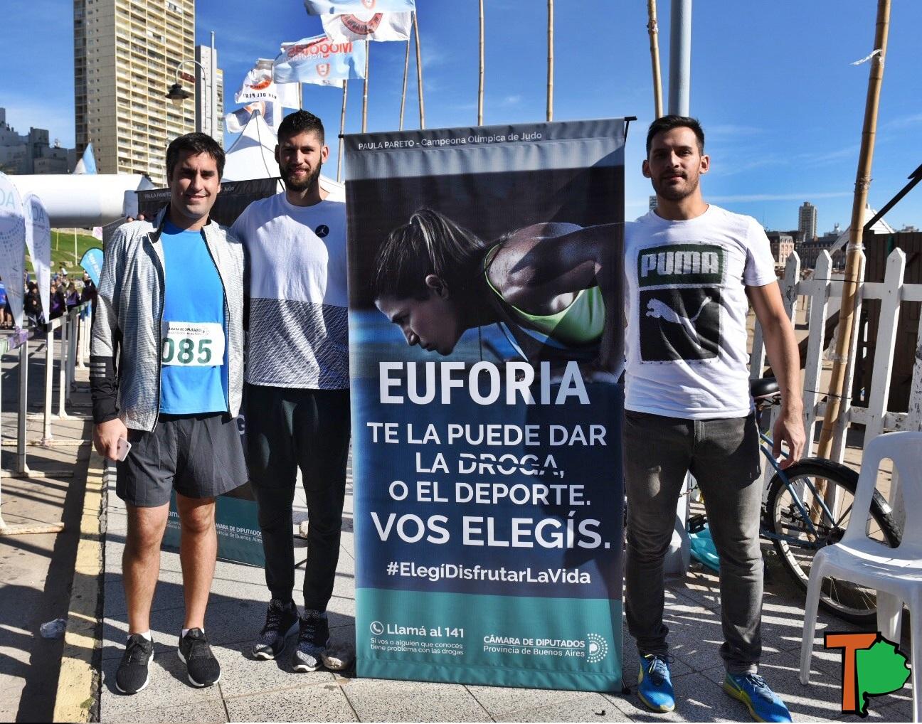 Mar del Plata / Mosca junto a Garino y Crismanich lanzaron la maratón 8k contra las adicciones