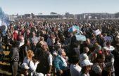 #VillegasEsUndrama / Más de 3000 personas reclamaron en la ruta que aceleren el drenaje de aguas que inundan el distrito