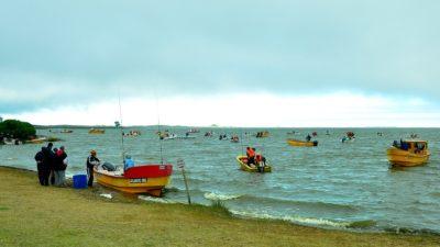 Montehermoseños se llevaron los premios mayores del concurso de pesca en la Laguna Sauce Grande
