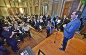 La Plata / Garro junto a Pinedo inauguró el salón de actos de la Escuela Nº 31